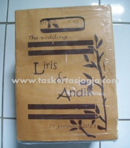 Tas Kertas The Wedding Mojokerto