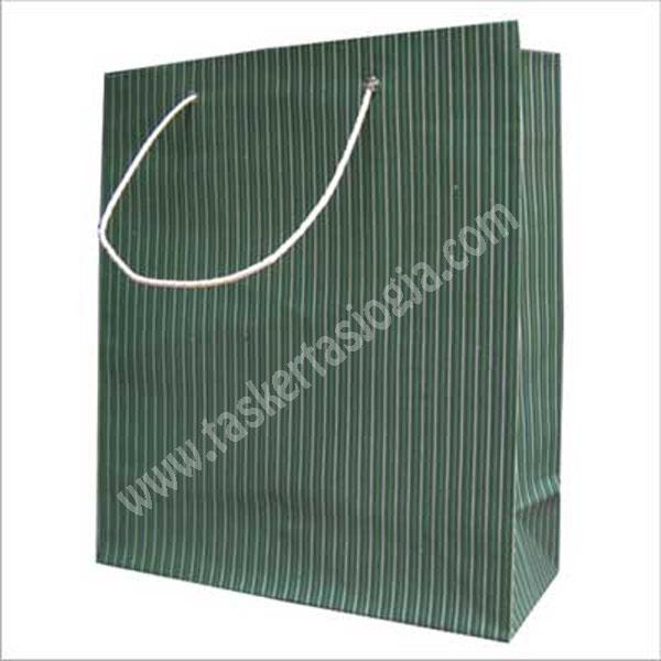 tas kertas garis hijau 34