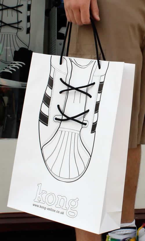 shopping bag design toko sepatu