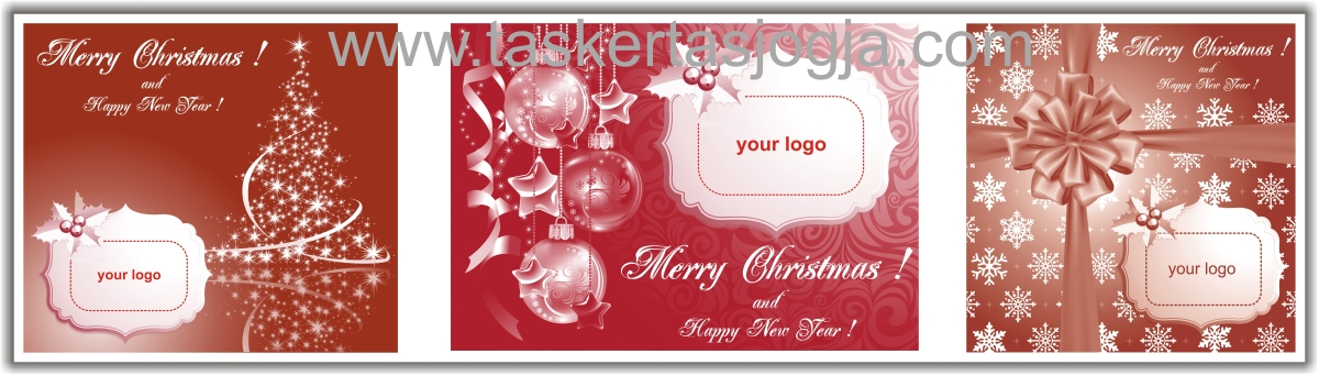 tas kertas natal satu warna