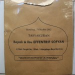 Tas Kertas Murah Tasyakuran Bpk & Ibu Effentrif Sofyan di Bandung